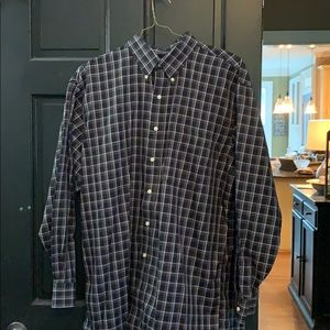 Jos. A. Banks navy long sleeve button down shirt L